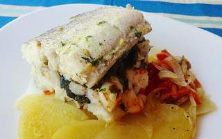 Merluza con Espinacas, Algas y Azafrán - Blog de Recetas Saludables