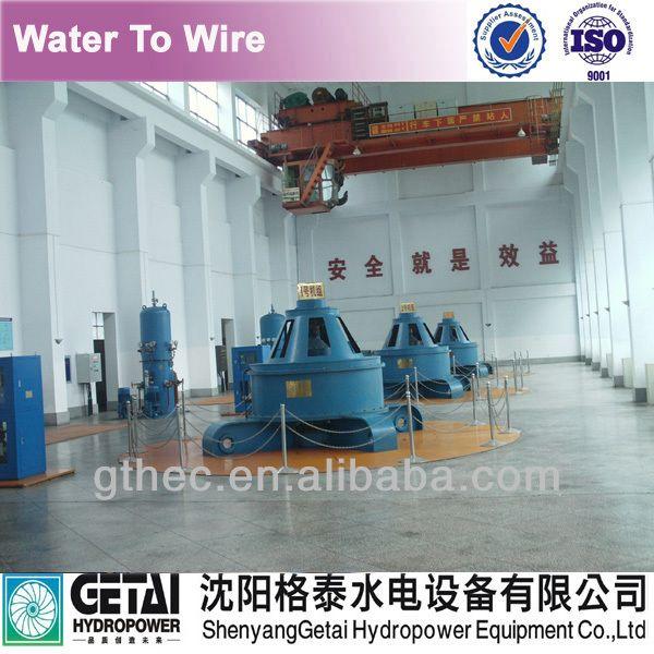 Supply pelton water turbine generating unit  water turbine generator EPC service manufacturer made inchina from shenyang getai $10000~$100000