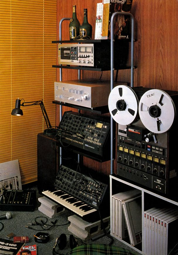 What A Great Home Studio   8 Track, Korg Keyboard And Modular Synth