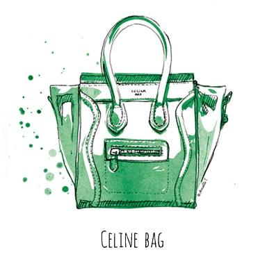 Celine bag - Illustration by Armelle Tissier