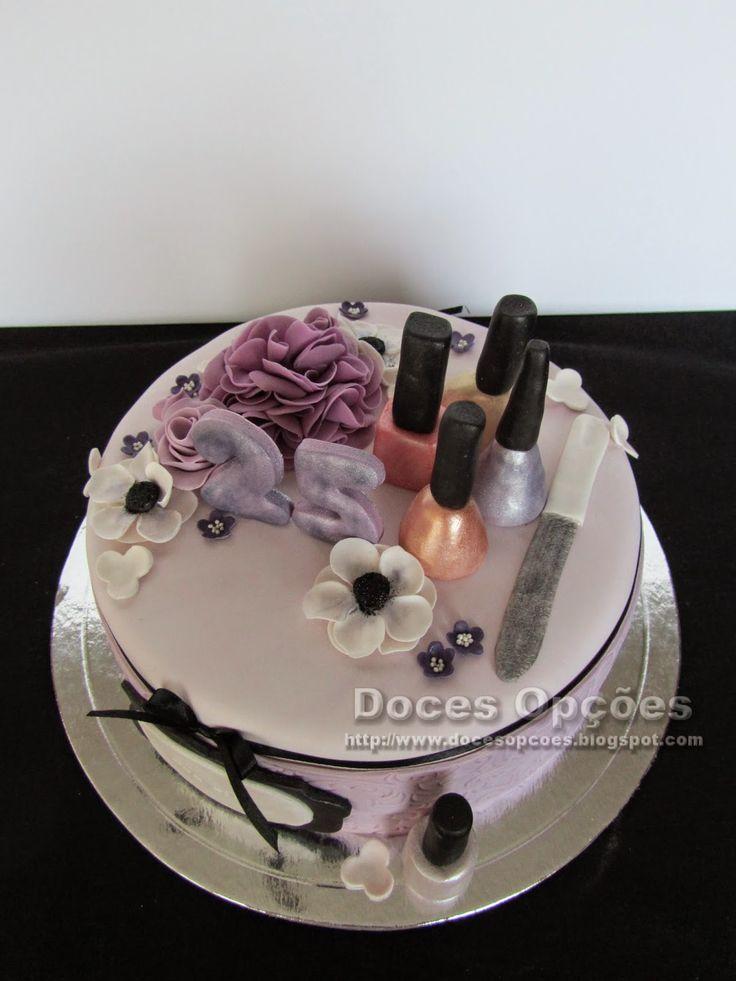 doces op es bolo de anivers rio manicure bolos pinterest manicures. Black Bedroom Furniture Sets. Home Design Ideas