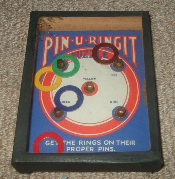 "VINTAGE ""PIN-U-RINGIT"" DEXTERITY PUZZLE GAME - R. JOURNET"