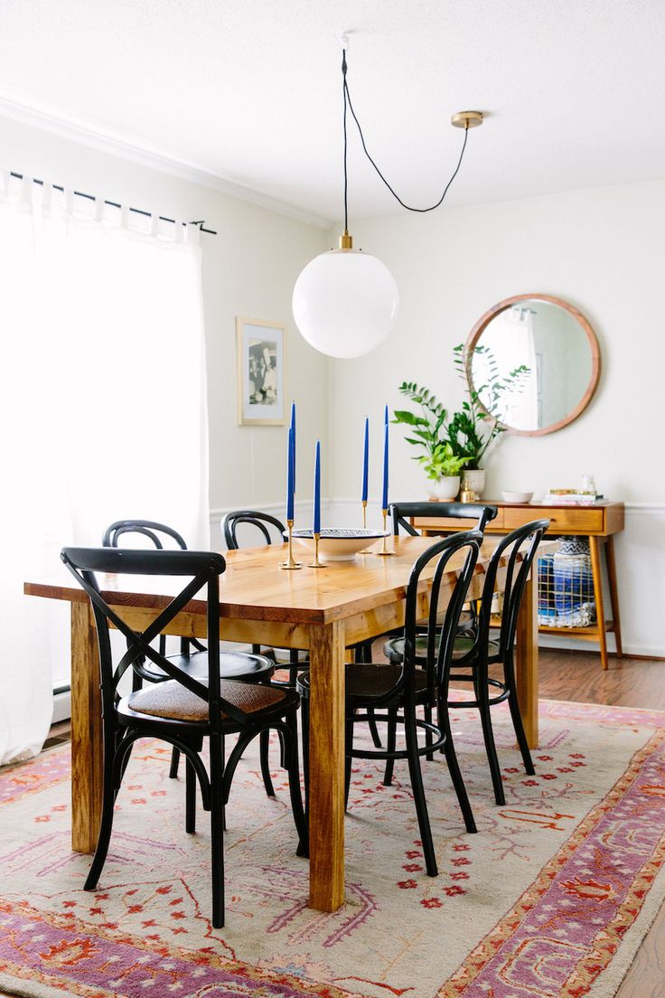 Chic drum pendant with what is shiplap and dining room set also - Sam Stanyon S Eclectic Raleigh Home Tour The Everygirl West Elmdining Tableblack Dining