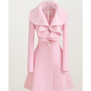 So cute!: Pink Coats, Pretty In Pink, Style, Colors, Long Coats, Jackets, Trench Coats, Winter Coats, Wool Coats