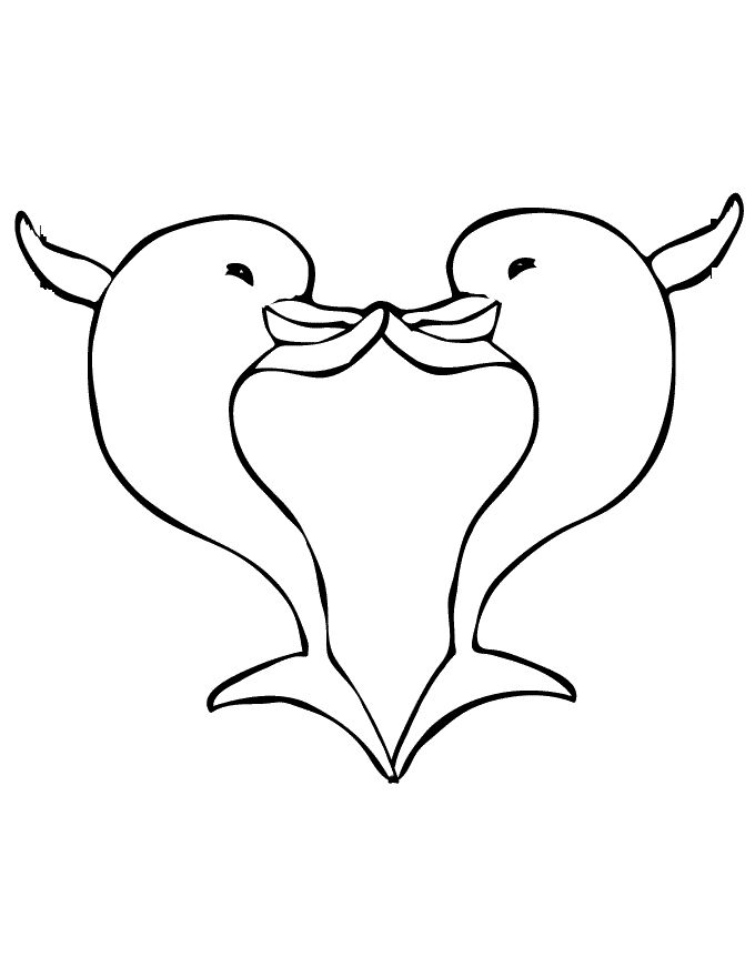 two dolphins interesting and funny coloring pages for kids printable dolphins coloring pages for kids