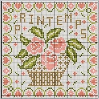 Printemps project hama perler pattern