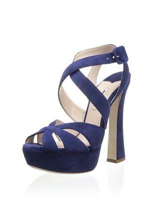 48% OFF Miu Miu Women's Platform Sandal (Navy)