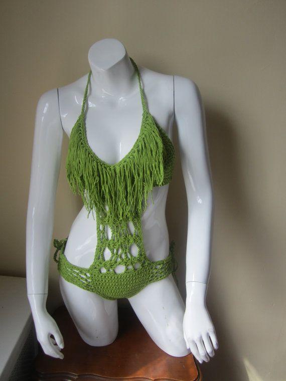 Crochet monokini, fringe monokini, crochet swimwear, crochet bikinis, Fringe swimwear, Fringe swimsuits, Fringe bathing suits,