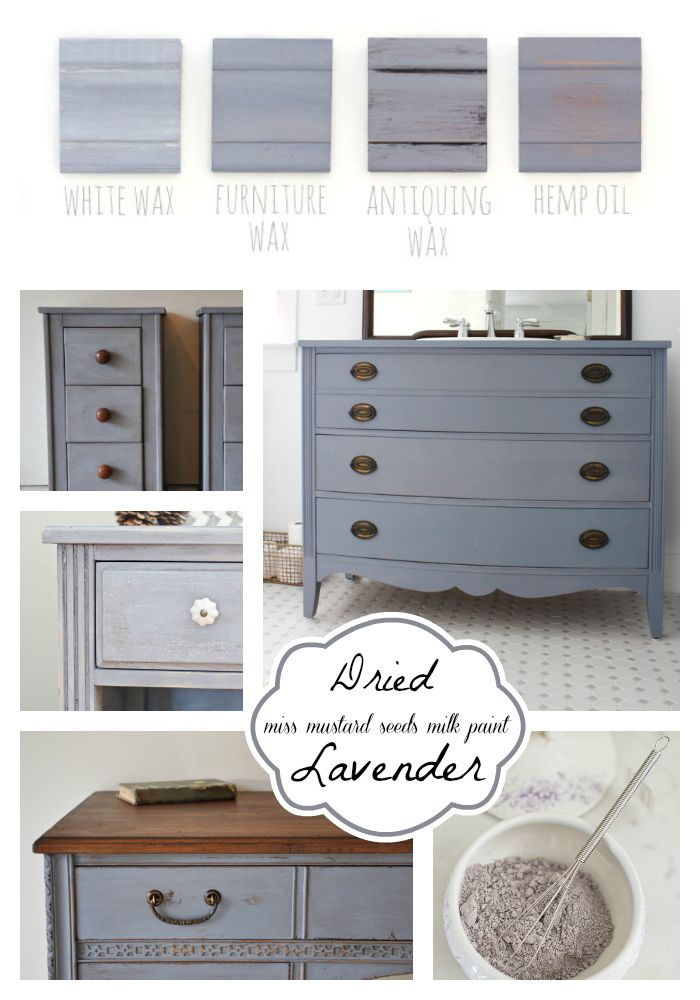 Miss Mustard Seed's Milk Paint | Dried Lavender Color | Furniture Paint Projects | Milk Paint Collage | CarverJunkCompany.com
