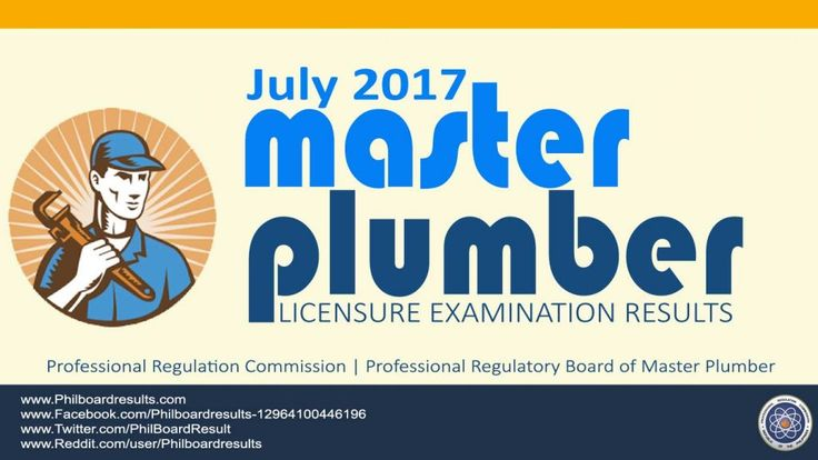 Shown below is the full list of passers for July 2017 Master Plumbers Board Exam Results, officially given and release by Professional Regulation Commission
