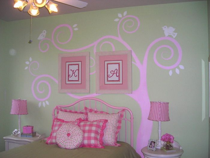 Abstract Purple Wall Murals In Girls Bedroom   Wallpaper Mural . Part 93