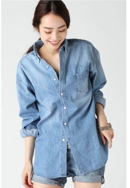 レディスシャツ(デニムブリーチビッグシャツ)/ジャーナルスタンダード レリューム レディース(JOURNAL STANDARD relume) / oversized cambray shirt on ShopStyle