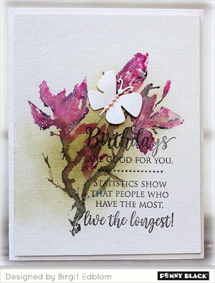 Featuring Penny Black's newest release of stamps and dies, BLISS 2017... click through for complete supplies and instructions.