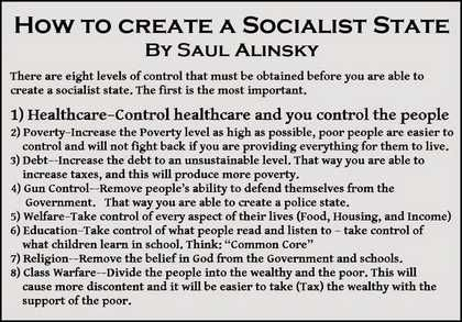 How To Create A Socialist State - By Saul Alinsky...