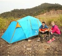 Best 3-4 Person Camping Hiking Water Rainproof Automatic Four Season Tent One Room One Hall with window