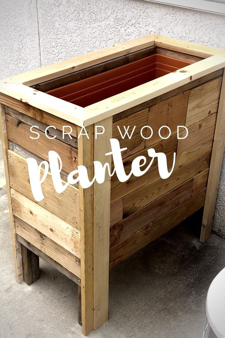 Diy Scrap Wood Planter Girl With A Budget Wood Planters Wood Planter Box Diy Wood Planters