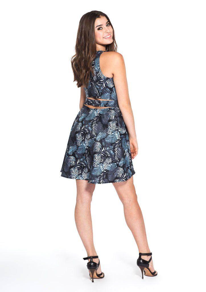 Jessica Black Leaves - Dress - Tween Girl - Miss Behave Girls