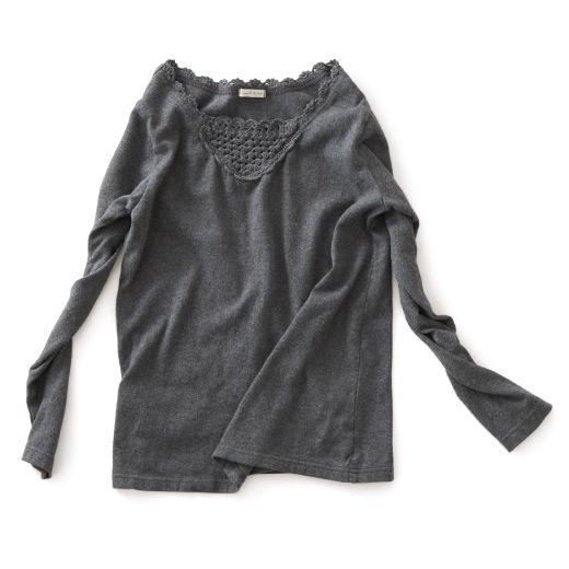 ちら魅せ。|チラ見せ長袖Tシャツ〈レディース〉B