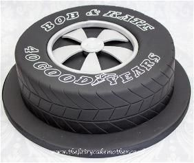 Car tyre cake idea