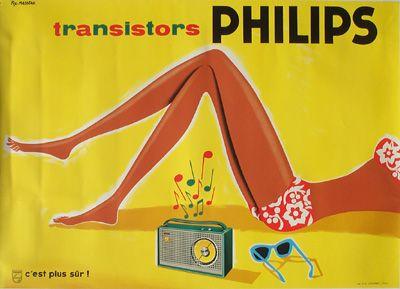Galerie Montmartre - Philips bikini girl (c.1950) by Fix-Masseau