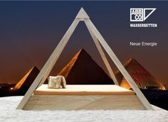 Temple Beds - great for healing, mediation, and raising vibrations. For energizing food and plants get smaller pyramids at http://www.powerofpyramids.com. All pyramids are charged by Tesla coils and made of copper for best results.