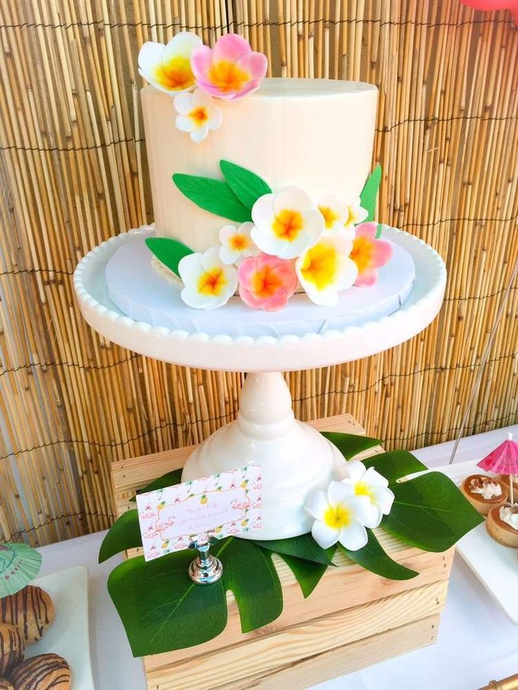 Incredible cake from a luau birthday party! See more party ideas at CatchMyParty.com!