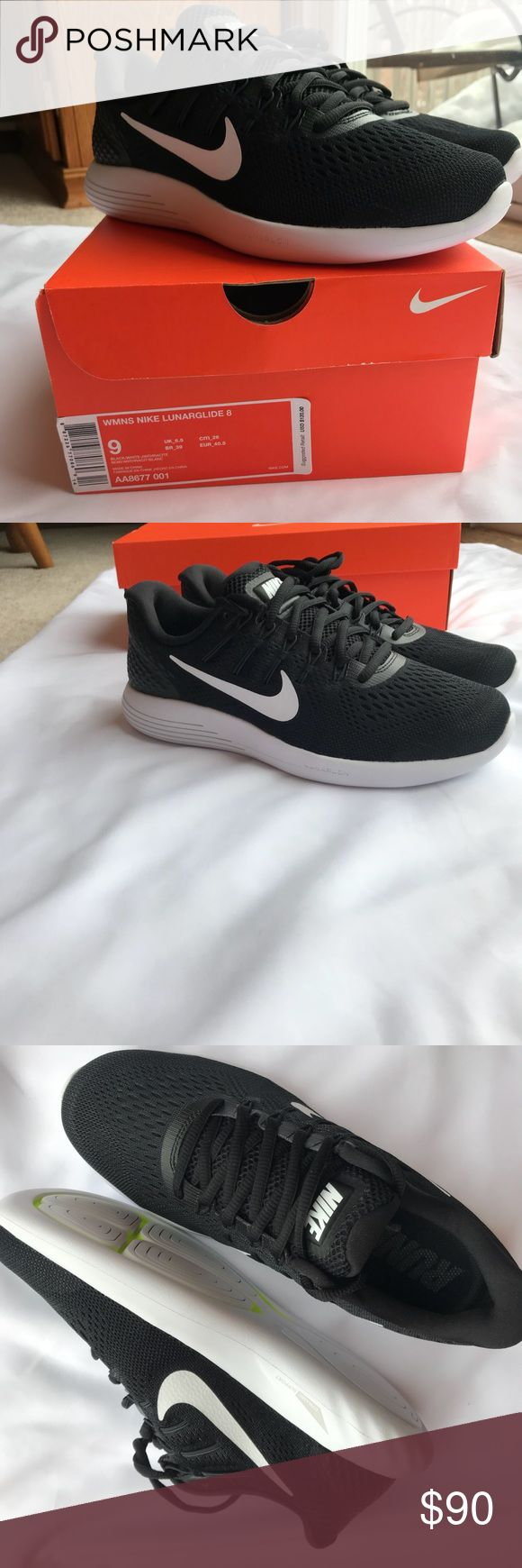Nike Lunarglide 9 women's running shoe brand new New in the box classic black and white athletic shoes. Retails at $120. Super comfy  Style AA8677-001 Nike Shoes Athletic Shoes
