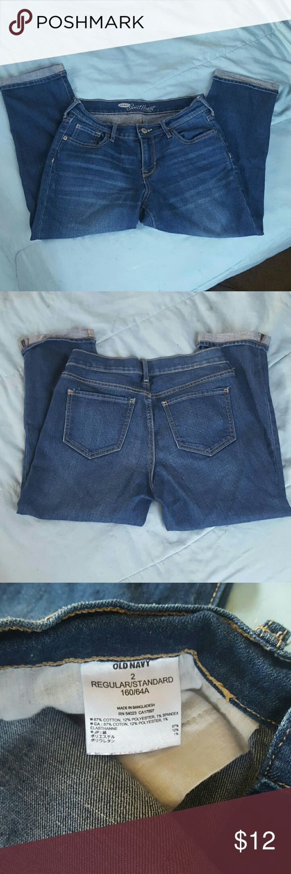 Old Navy Sweetheart Capri Jeans Old Navy Capri Jeans Sweetheart cut, excellent condition. Perfect for Spring and Summer! Old Navy Jeans Ankle & Cropped