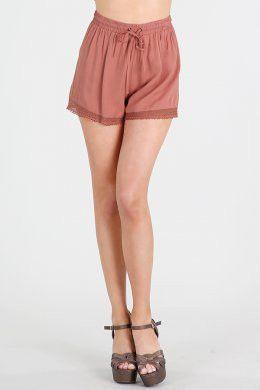 Drawstring Lace Hem Short