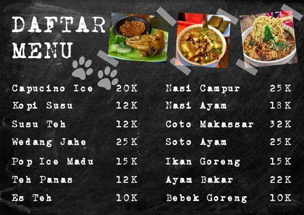 Cara Membuat Daftar Menu Makanan Di Photoshop Makanan Photoshop Tulisan Kapur