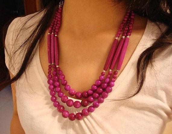 Handmade Nepalese Tibetan tribal purple by nepalesejewelry on Etsy, $15.99