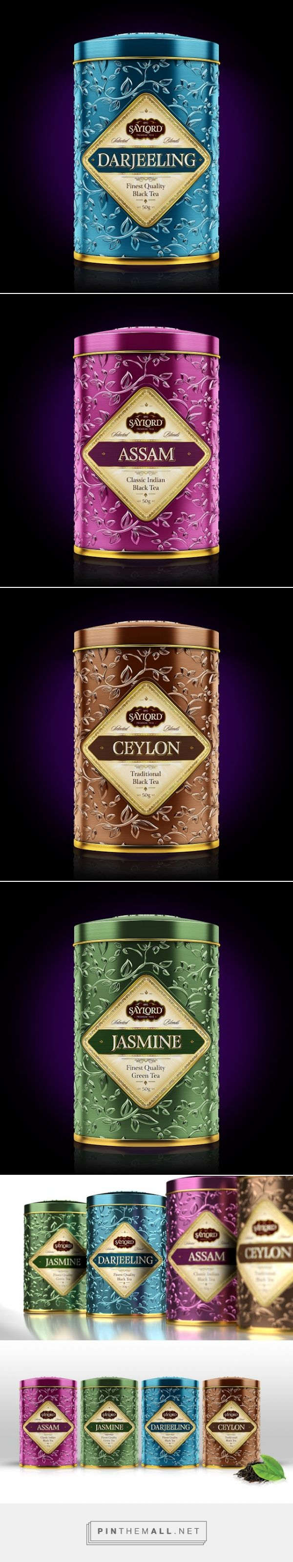 SAYLORD Premium Teas (Concept) by Paulo Madeira & Anastasia Ziemba. Pin curated by SFields99.