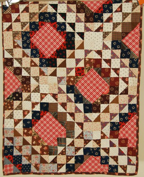Outstanding Vintage 1870 039 s Ocean Waves Crib Antique Quilt Early Brown Fabrics | eBay