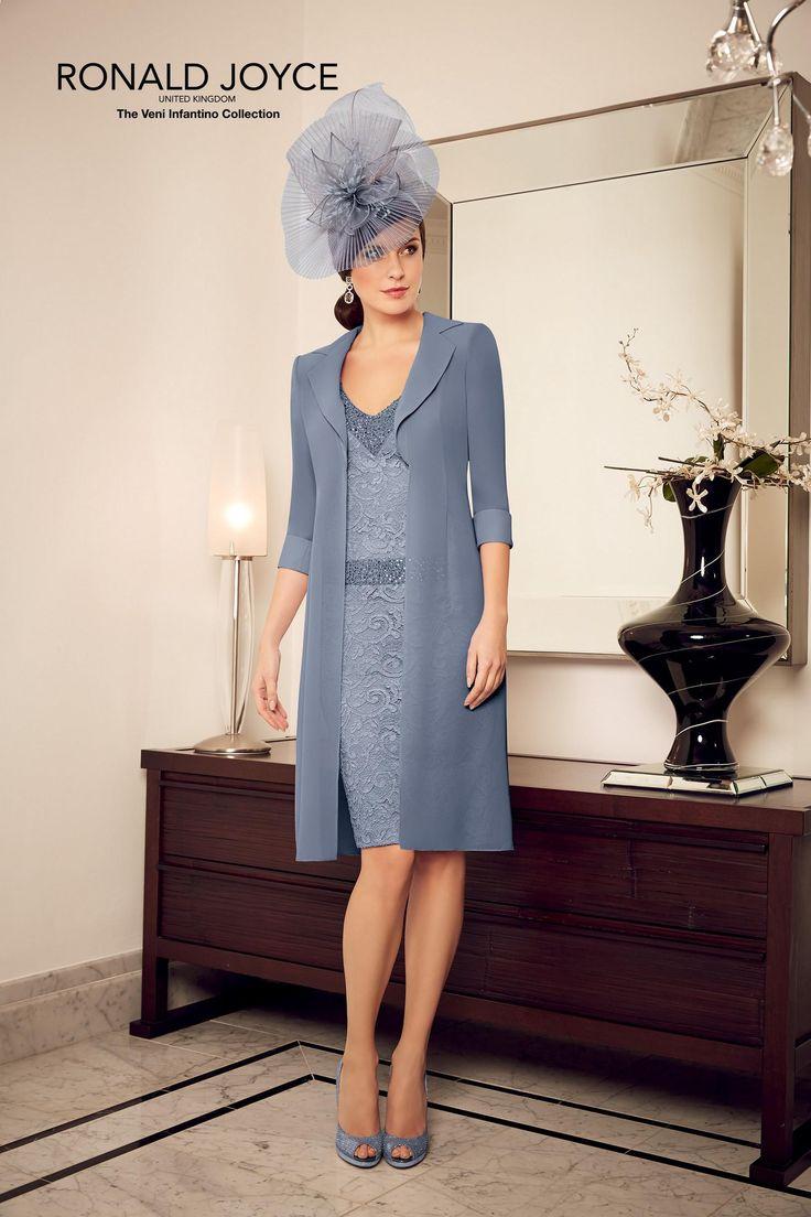 V neck long evening dress and coat