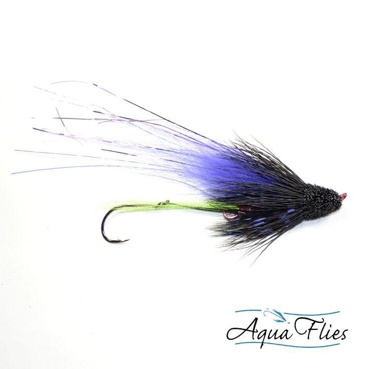 Greg Senyo Steelhead Muddler Fly Fishing Fliy - Black Purple - Steelhead Salmon - Set of 3 Flies