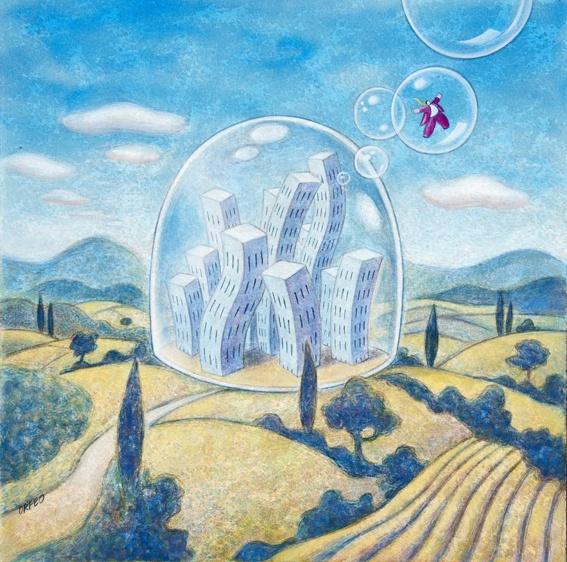 """© Armando Orfeo """"Prigioni"""" """"Prisons"""", oil on canvas"""