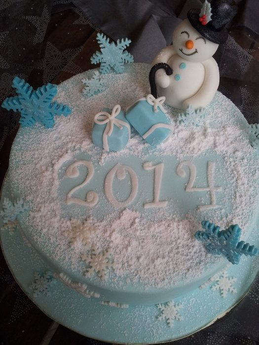 Happy Snowman cake - by CakeonMe @ CakesDecor.com - cake decorating website