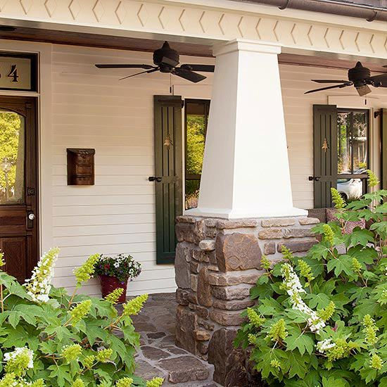 Craftsman style home ideas porch columns porch posts for Craftsman style columns