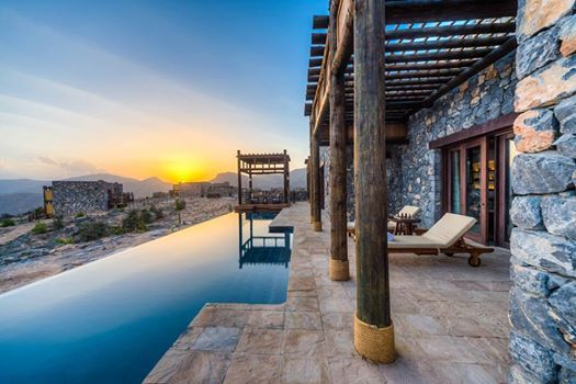 Alila Jabal Akhdar has one of the best in-suite plunge pools according to The Sydney Morning Herald.