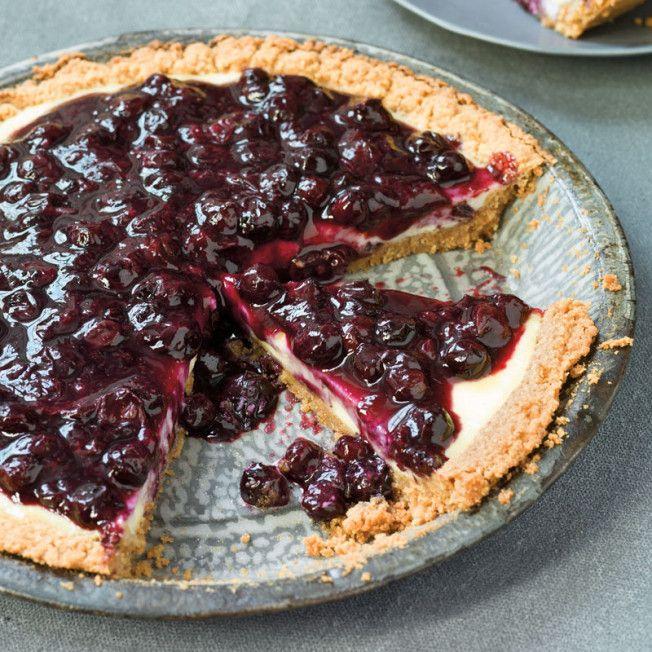 Blueberry–Cream Cheese Custard Pie