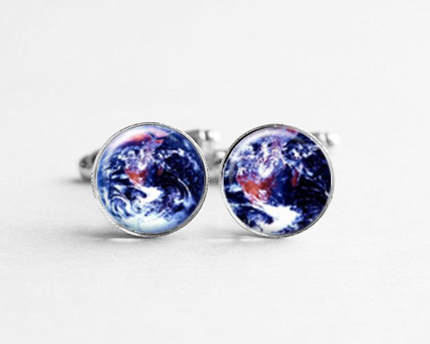 Cufflinks – Planet Earth Cufflinks, Gift for Men, c039 – a unique product by petiteVanilla on DaWanda