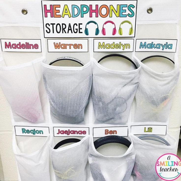 Headphone storage using shoe organizers                                                                                                                                                                                 More