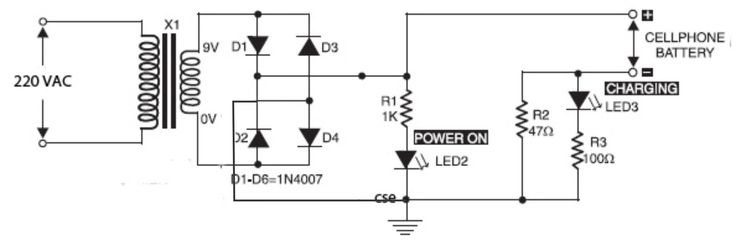 phone battery charger circuit