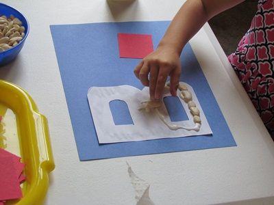 ABC craftsLetter Crafts, Abc Crafts, Letters Crafts, Alphabet Learning, Preschool Homeschool, Alphabet Letters, Teaching Preschool, Beans Letteing Recognition, Yearlong Study
