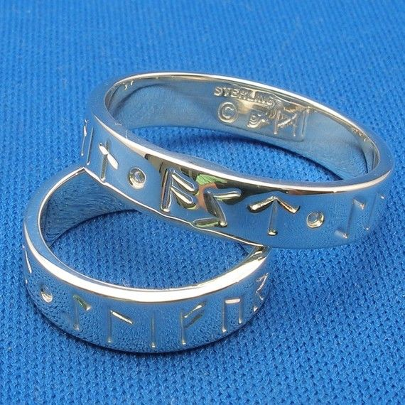 Found our wedding rings!!!  MY LOVE FOREVER Norse Rune Love Spell Rings by PaulTheJeweler, $119.99