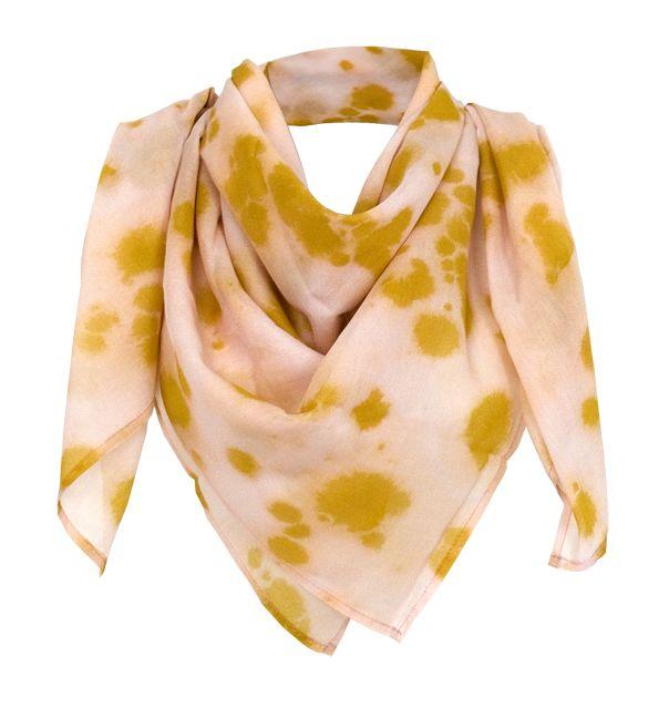 """Silk-Cotton Scarve in 100x100 cm """"inked"""" by studio nono http://studio-nono.net"""
