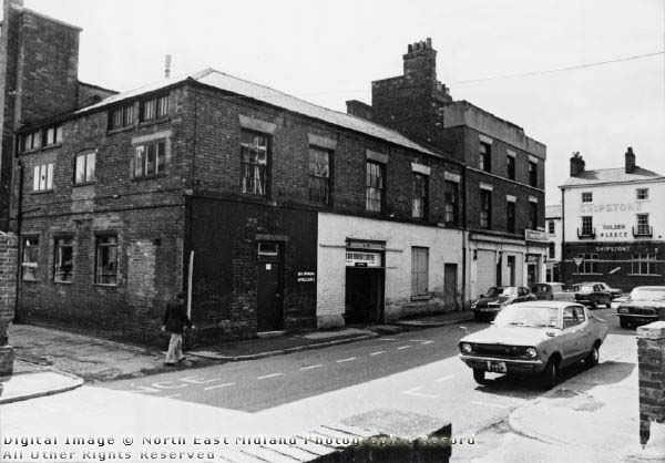 Fulforth Street, Nottingham, 1978 Looking southwest from near its junction with Huntingdon Street; in the background is Mansfield Road.