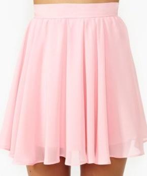 Cute light pink skirt