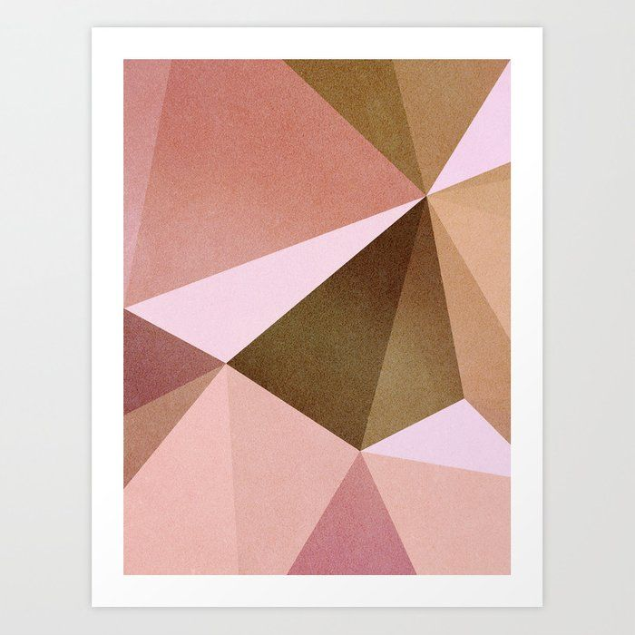 Minimal Blush Geometry Abstractart Art Print Abstract Geometric Art Minimalism Abstract Geometric Art Geometric Artwork
