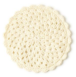 I am so making this, but with different colors rather than just one color. If you back it you have a great trivet/potholder.